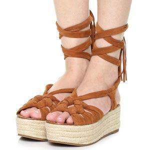 Wrap Platform Espadrille Sandal
